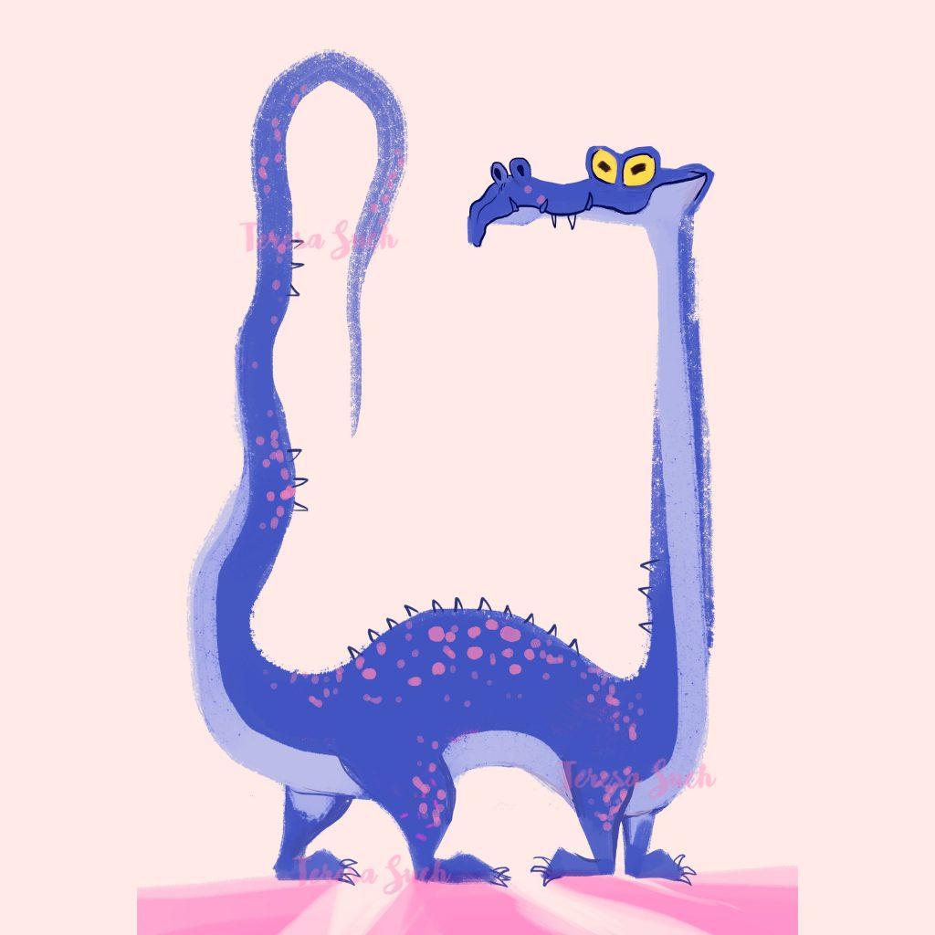 Ilustración infantil, ilustración infantil dragón, ilustración digital