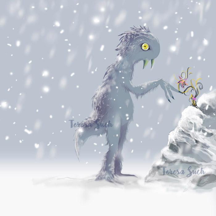 Ilustración infantil, diseño de personaje, ilustración digital