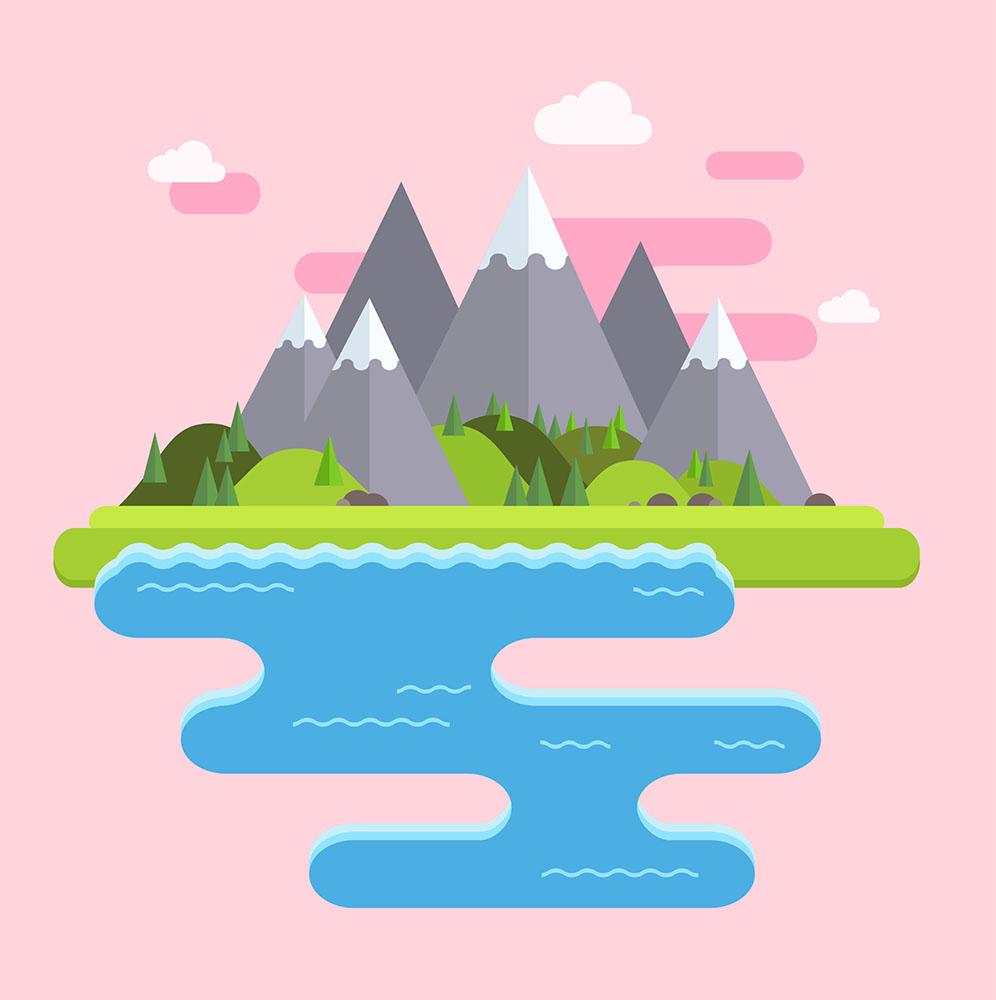 Ilustración vectorial de paisaje