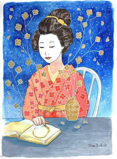il·lustració geisha