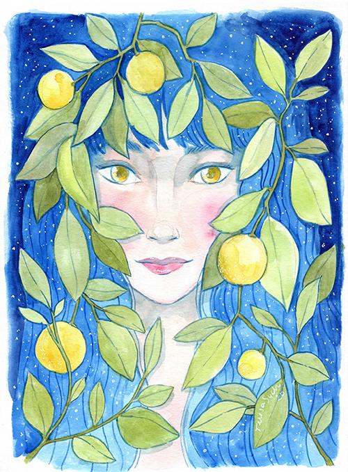 ilustración limones