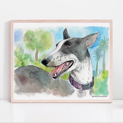 retrato personalizado de mascotas