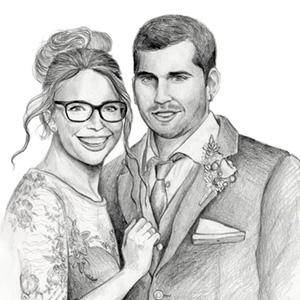 retratos personalizados a lápiz
