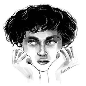 Retrat digital blanc i negre