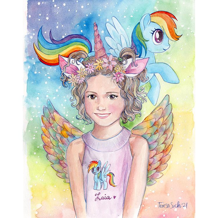 retrato personalizado My Little Pony