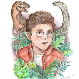 retrat personalitzat dinosaures